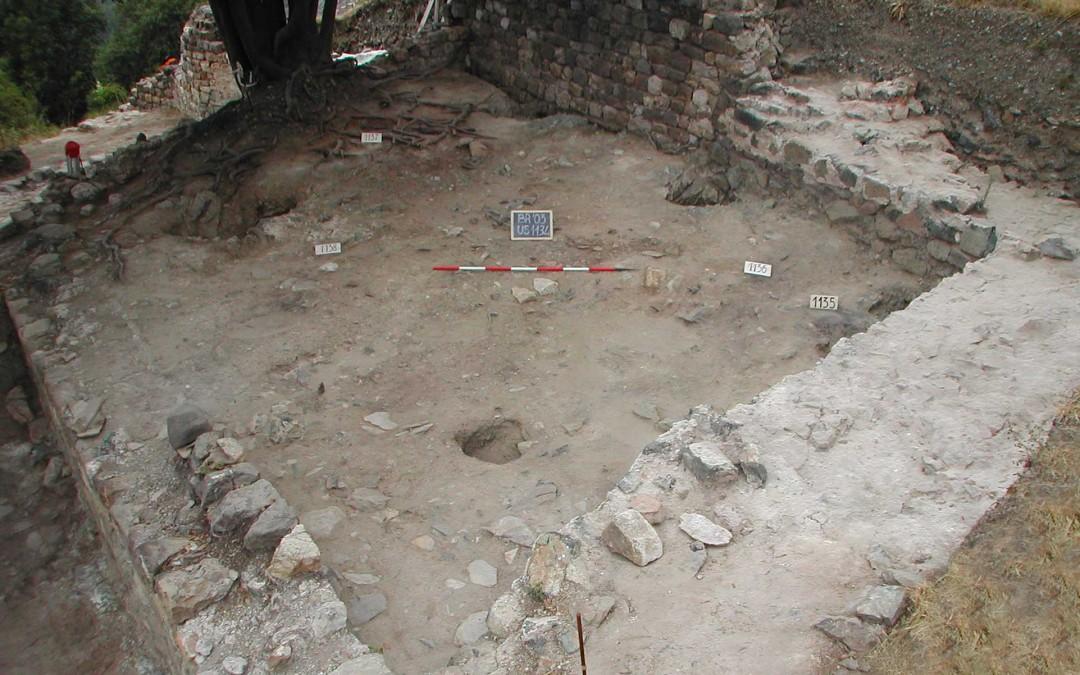 fig.4a. Resti del vano settentrionale del palazzo signorile riferibile alle fasi duecentesche.