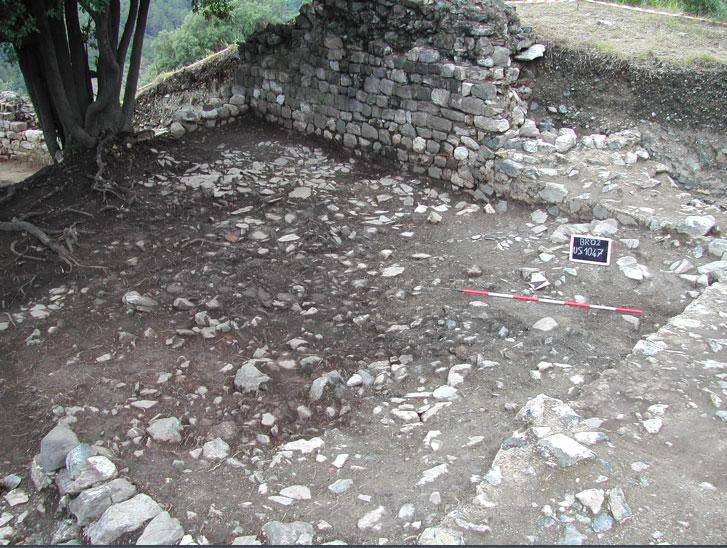 fig.5. I materiali relativi al crollo del tetto del vano settentrionale del palazzo signorile.