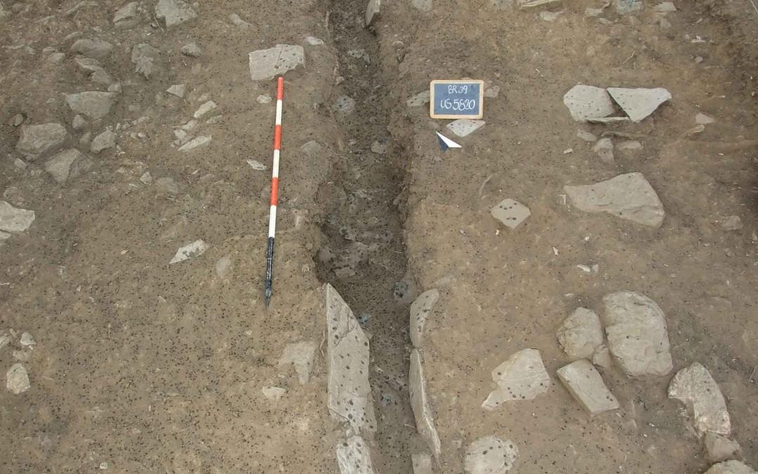 fig.4. La stalla per i muli e i cavalli strutturata in questa parte del sito tra XII e XIII secolo.