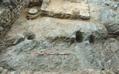 Fig.10. L'Area 100 al termine della campagna di scavo 2013, con esposte le tracce di diverse epoche.