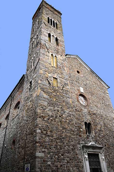 Fig.15b. Sarzana: la pieve di Sant'Andrea, dalla quale dipendeva la chiesa castellana della Brina.