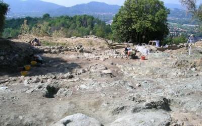Fig.7. Un'immagine dell'Area 9000 in corso di scavo.