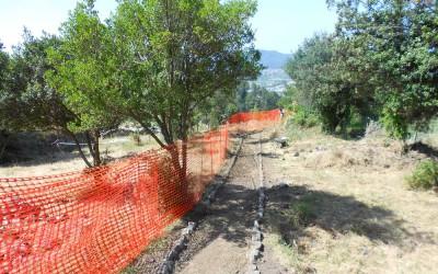 fig.9. I lavori per la strutturazione del percorso di visita nell'area archeologica della Brina nel tratto   mediano del pianoro.