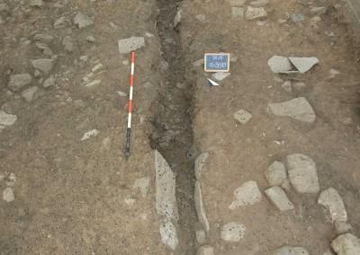 fig.5. La pavimentazione della stalla dotata di canaletta centrale (Area 5800)