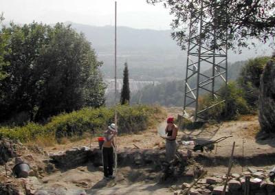 fig.6a. Un momento dello scavo delle Aree 9000 e 95000.